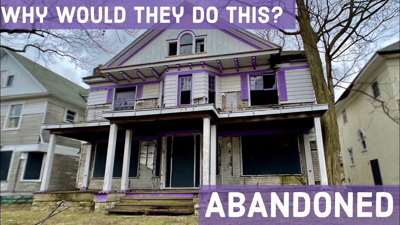 Exploring an Abandoned Purple House | Ohio Architecture 4K