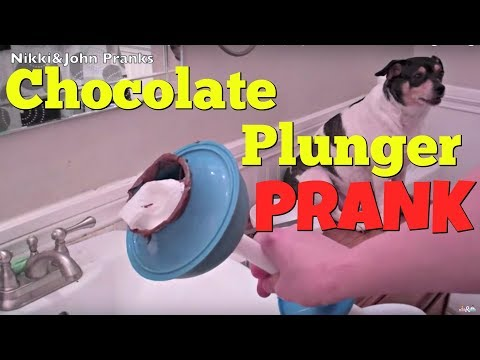 "CHOCOLATE PLUNGER PRANK. (Touching Nikki's Face With ""poo"") - Top Boyfriend And Girlfriend Pranks"
