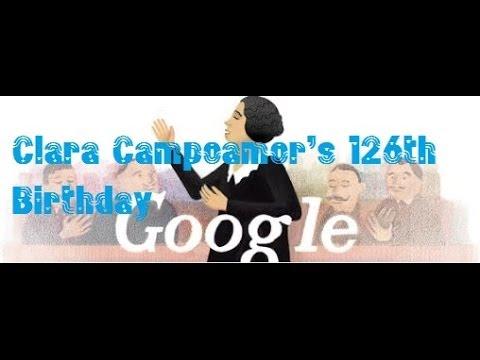 Clara Campoamor Google Doodle - 126th Birthday