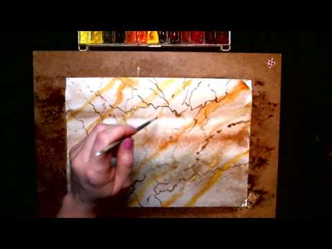 Как нарисовать мрамор акварелью