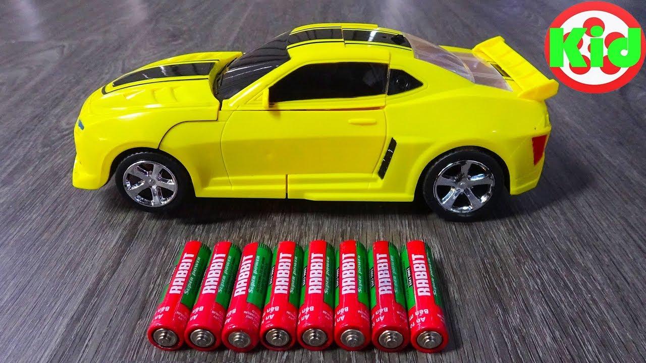 Xe ô tô điều khiển từ xa BIẾN HÌNH - Yellow Bumblebee Transformer Toys - Car Toys Kid F507B