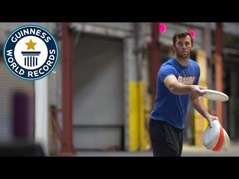 Most drinks cans hit with a frisbee in one minute – Brodie Smith – Guinness World Records