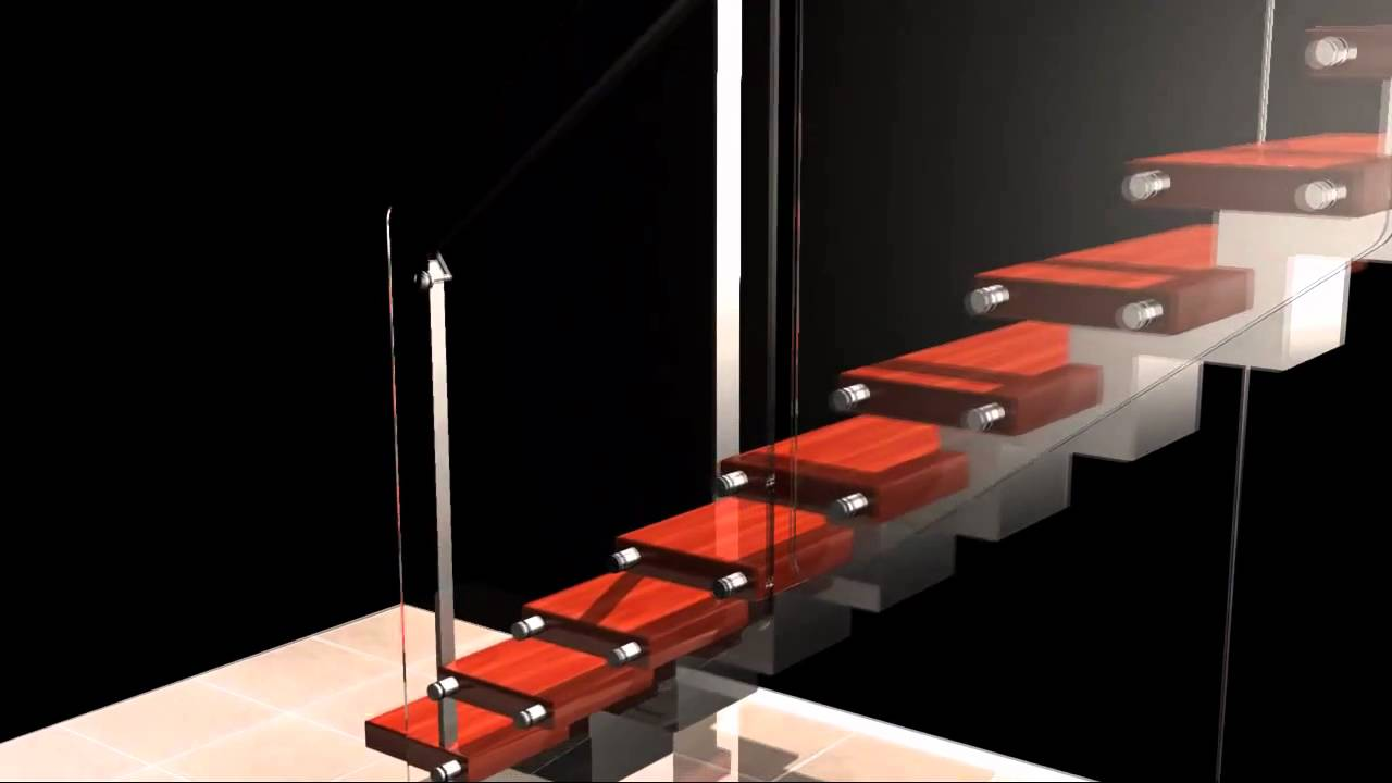 Rendering Of Stainless Steel Zig Zag Stair From Arden Youtube   Zig Zag Staircase Design   Stringer   Dual Staircase   Chain Staircase   Sawtooth   Steel