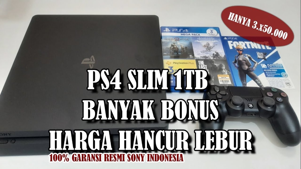 PS4 Slim 1TB dan 500GB Harga Hancur Lebur | Garansi Resmi Sony Indonesia