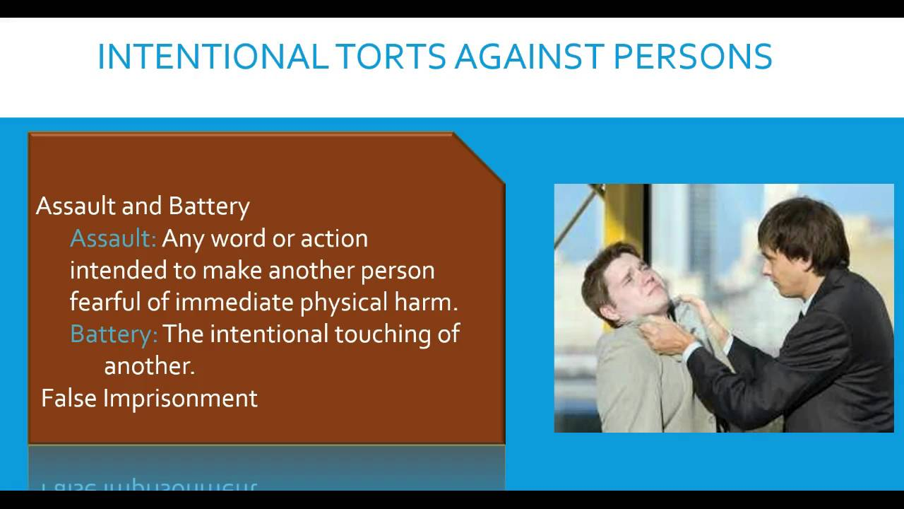 intentional harm tort hockey How to write essays for intentional torts negligent act causing harm if both intentional torts and negligence are suggested by.