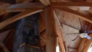 Luxury Craftsman Timber Frame, Log Home Tour