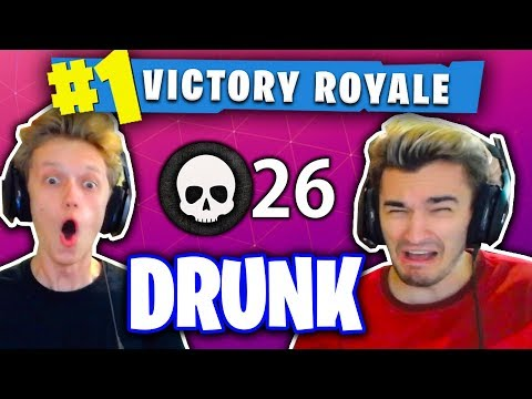 1 KILL = 1 SHOT OF LIQUOR! (DRUNK FORTNITE WIN WITH MY ROOMM
