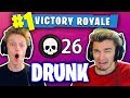 1 KILL = 1 SHOT OF LIQUOR! (DRUNK FORTNITE WIN WITH MY ROOMMATES!)