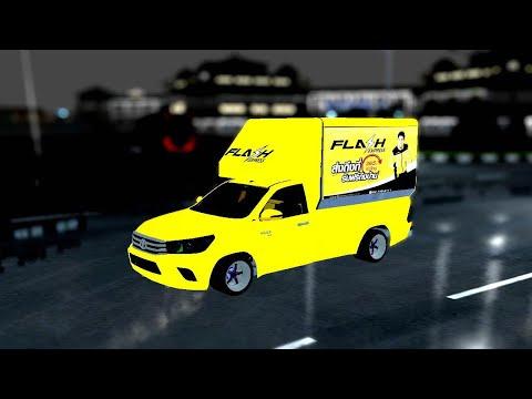 [รีวิว+แจก] รถส่งพัสดุ Flash Express(เกม bus simulator Indonesia)