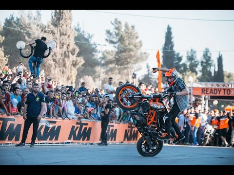 Spectacular Rok Bagoros KTM show in Palestine 2016 Foto