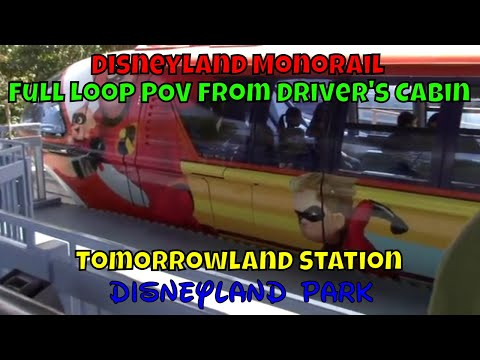 Disneyland Monorail Loop POV From Driver Cabin