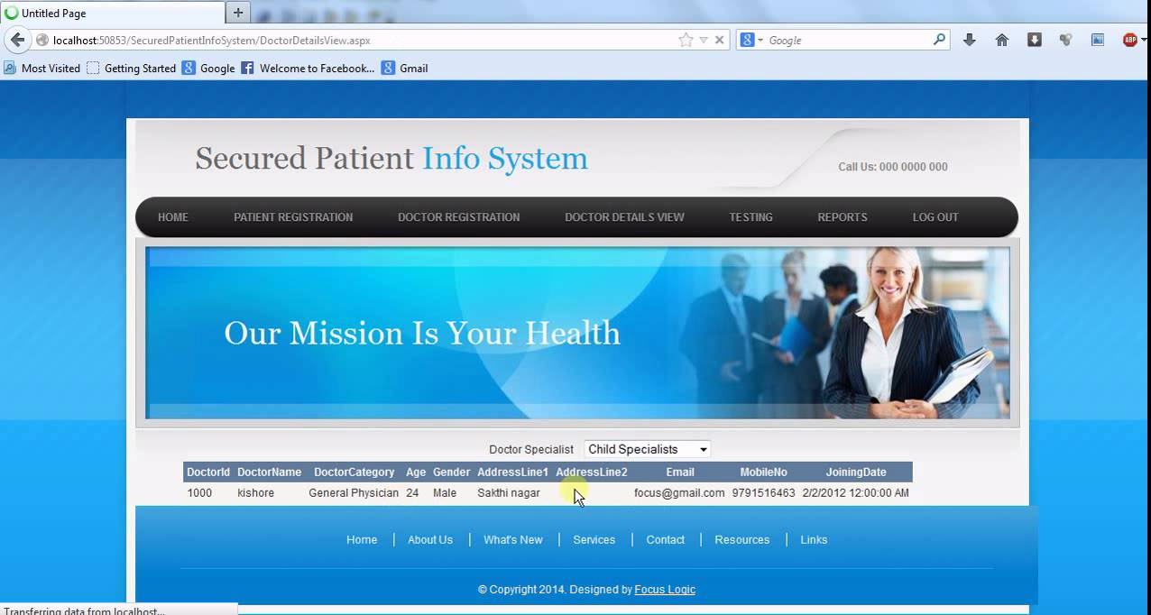 patient information system project