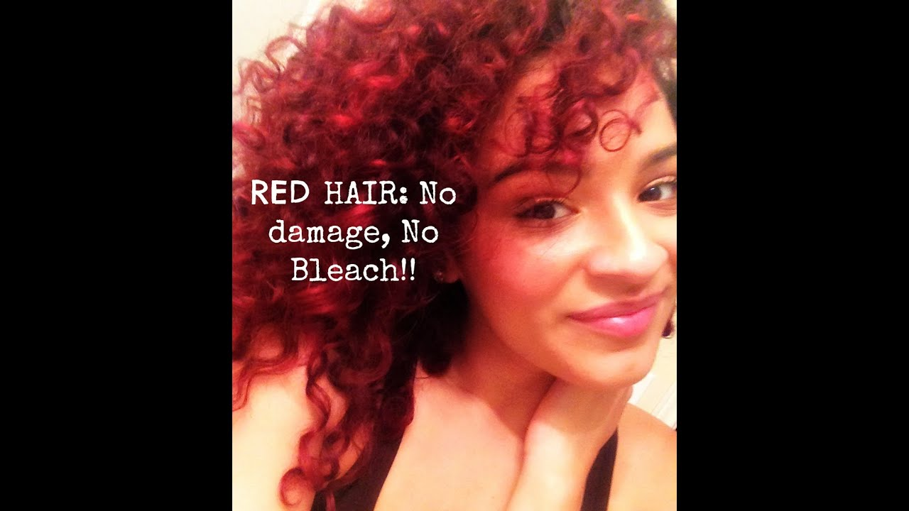 How To Get RED Hair W NO Bleach Or Damage Lets Talk