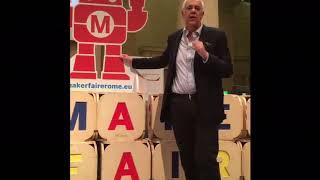 Maker Faire Rome 2018, promo of the Robotics Area by Professor Bruno Siciliano - 12 Sep 2018