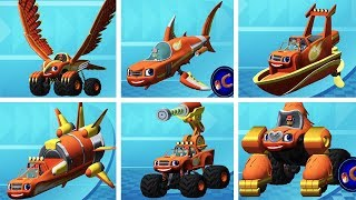 Blaze and the Monster - Blaze Obstacle Course All Transformers Monster - Nick Jr Kids Game Video