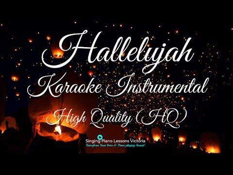 Hallelujah Karaoke Instrumental Hq In Female Key Kd Lang