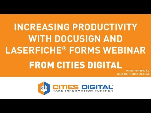 Digital and Electronic Signatures with Forms and DocuSign Webinar
