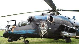 "Czech Air Force Mil Mi-24V ""Blue Tiger"" Static & Departure @ CIAF Brno"