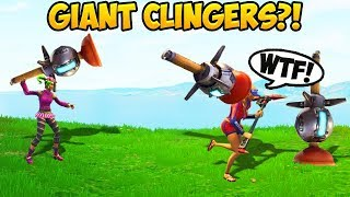 How To Throw GIANT Clinger Grenades! - Fortnite Funny Fails and WTF Moments! #262 (Daily Moments)