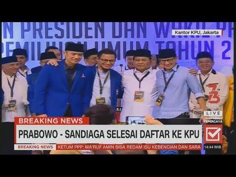 Resmi Daftar Pilpres, Prabowo: Kami Ingin Berkuasa atas Izin Rakyat