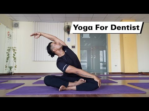 Basic Yoga for Dentist to Avoid Neck Pain and Back pain | Ra