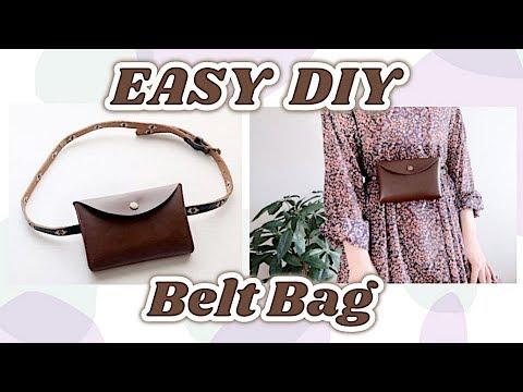 Sewing for Beginners DIY Belt Bag / 簡単DIYミニウエストバッグの作り方 / 手作教學 / 가방 만들기ㅣmadebyaya