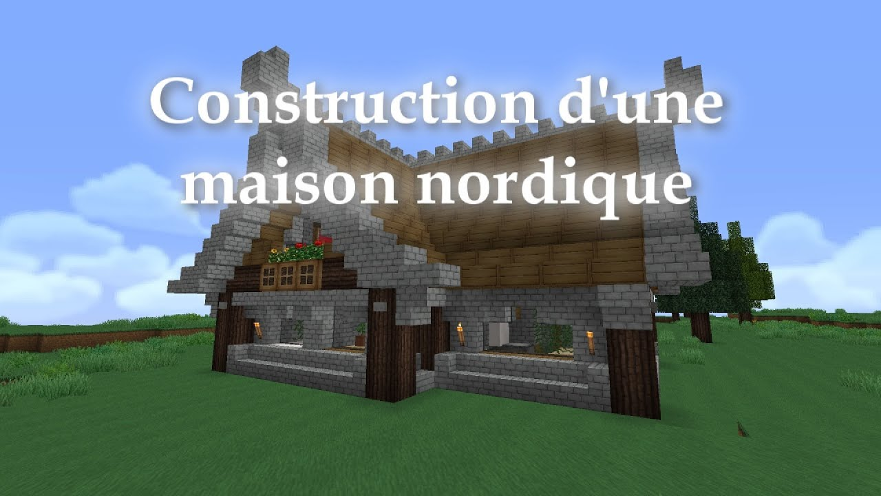 minecraft construction d 39 une maison nordique style. Black Bedroom Furniture Sets. Home Design Ideas