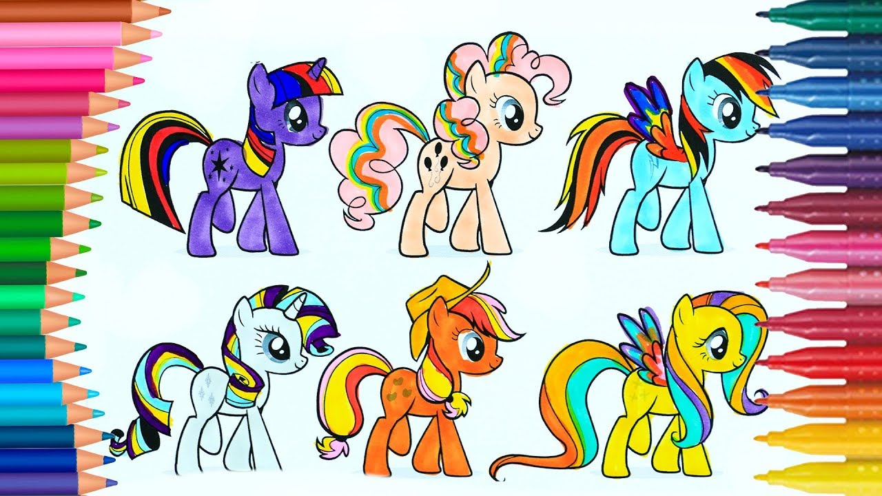 My Little Pony Boyama Kitabi Boyama Videolari Youtube