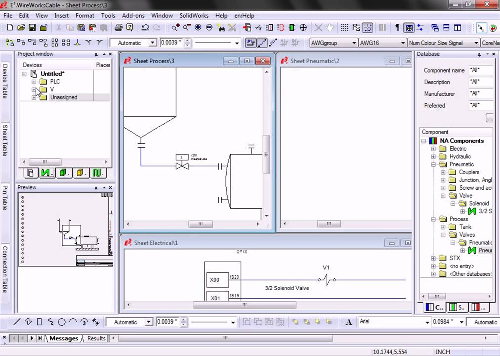 Process, Pneumatic, Electric Schematics with E3.WireWorks - YouTube