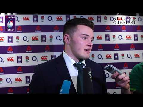 Jacob Stockdale speaks to reporters after Ireland 15-24 England | NatWest 6 Nations