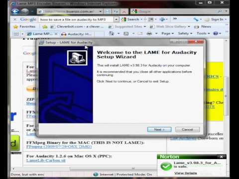 How to: Sing over a karaoke track using Audacity/ How to: Install lame (Full Version)