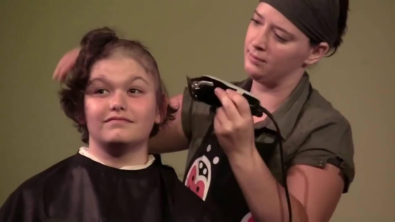 Cry Girl Buzz Cut Girl Buzzcut Haircut 2016 Long To Short