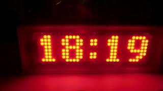 Led matrix digital clock 8x24 video