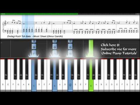 ♫ Zindagi Kuch Toh Bata (Bajrangi Bhaijaan) | Piano Tutorial/Lesson + Music Sheet + MIDI