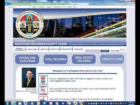 California Business Lawyer - Affidavit of Identity Requirement in Los Angeles County