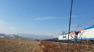 [4K] 중앙선 이설 전 구간을 운행하는 화물열차 (2…