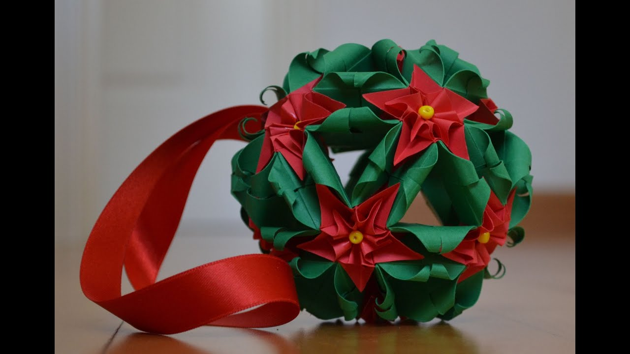 Christmas Origami Flower Diagram Fj1200 Wiring Kusudama Flowers Youtube