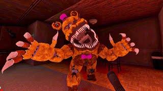 NIGHTMARE FREDBEAR ES TERRORÍFICO - Five Nights at Freddy's 4 Doom Mod (FNAF Game)