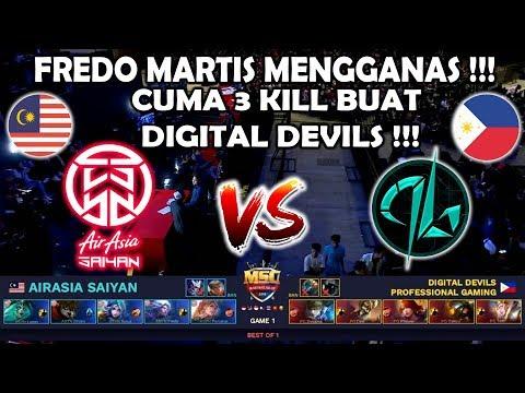 Fredo Martis Mengganas !! ASYN(Malaysia) vs Digital Devils(Philipina) MSC 2018 - Mobile Legends