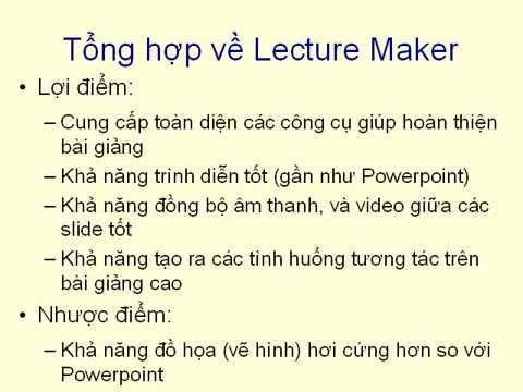 Cách soạn bài giảng điện tử E - Learning  - Presenter 7.0 - Bai 1 - Tổng quan