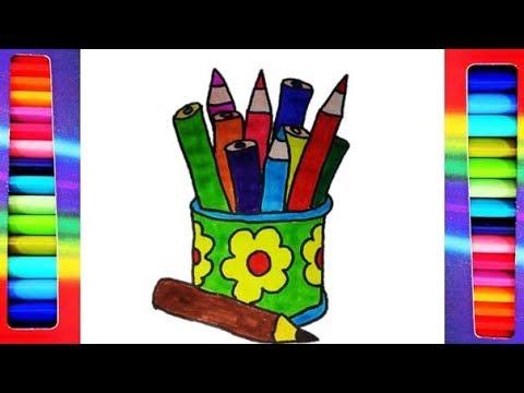 Dibuja Y Colorea útiles Escolares Dibujos Para Niños