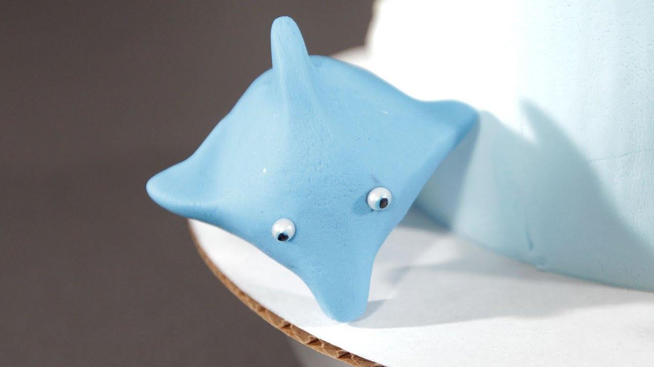 How To Make A Fondant Dolphin Cake Fondant Youtube