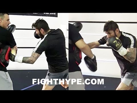 JORGE LINARES PERFECTING LOMACHENKO GAME PLAN; WORKING ON COMBOS TO DISRUPT MATRIX STYLE