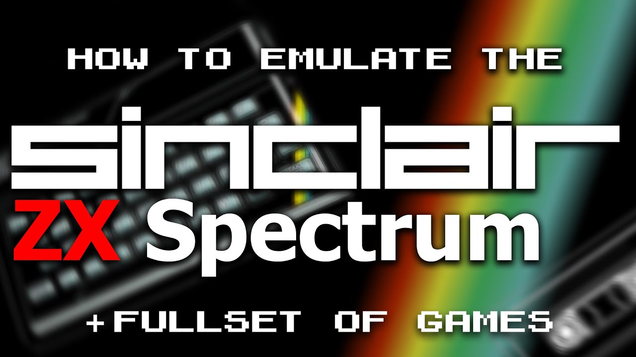 Zx Spectrum Best Emulator And All The Games Youtube