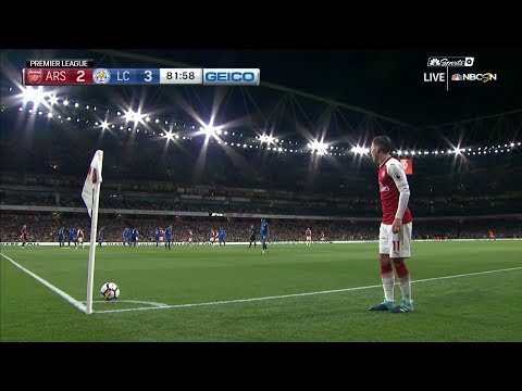 Arsenal's Aaron Ramsey equalizes against Leicester City