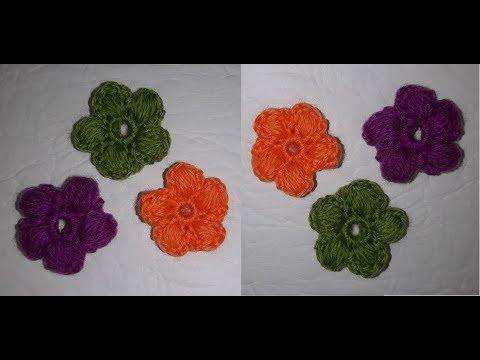 Красивые обьемные цветы для декора за 5 минут   Вязание крючком