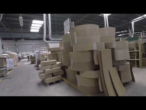 Работа на мебельной фабрике. Вторая часть (Сборка каркасов)