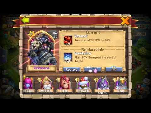 Castle Clash K.o.D Torch Rewards/Talent Rolls