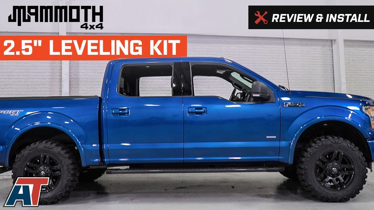 2015 2018 f150 mammoth 2 5 leveling kit review install youtube
