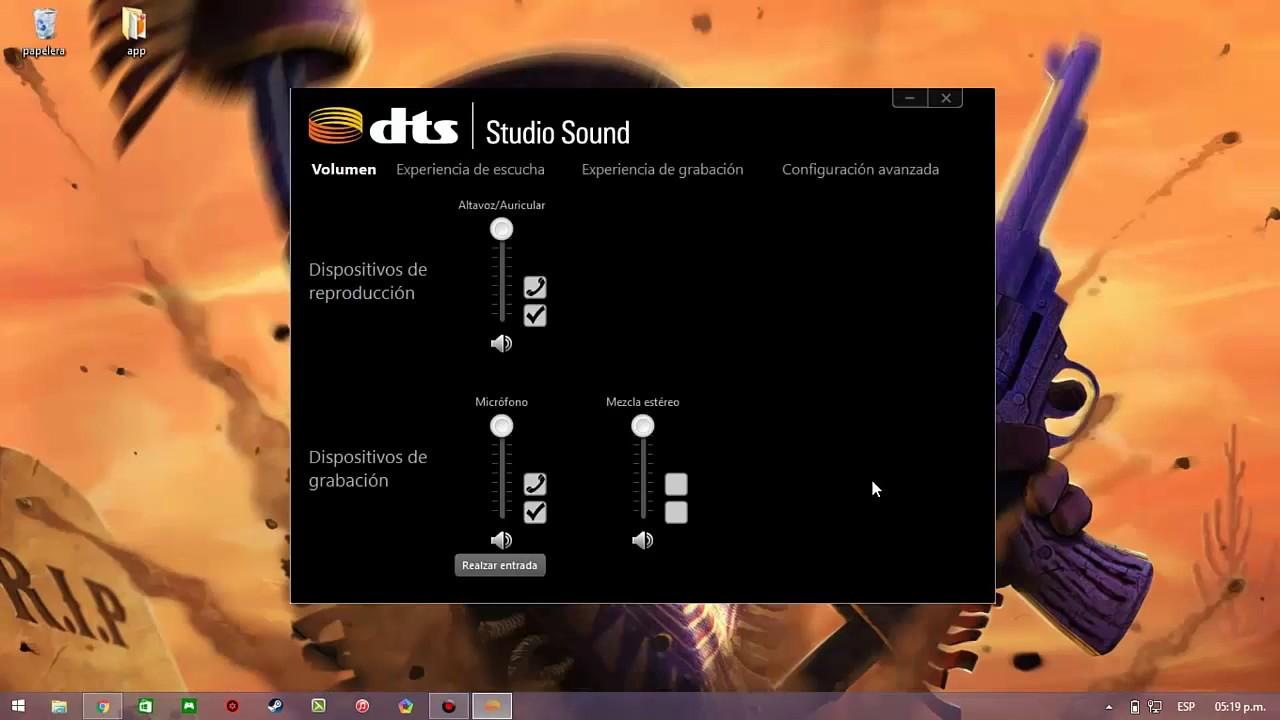 Descargar Dts Soun Studio Control Panel 2017 Actualizado|MEGA|